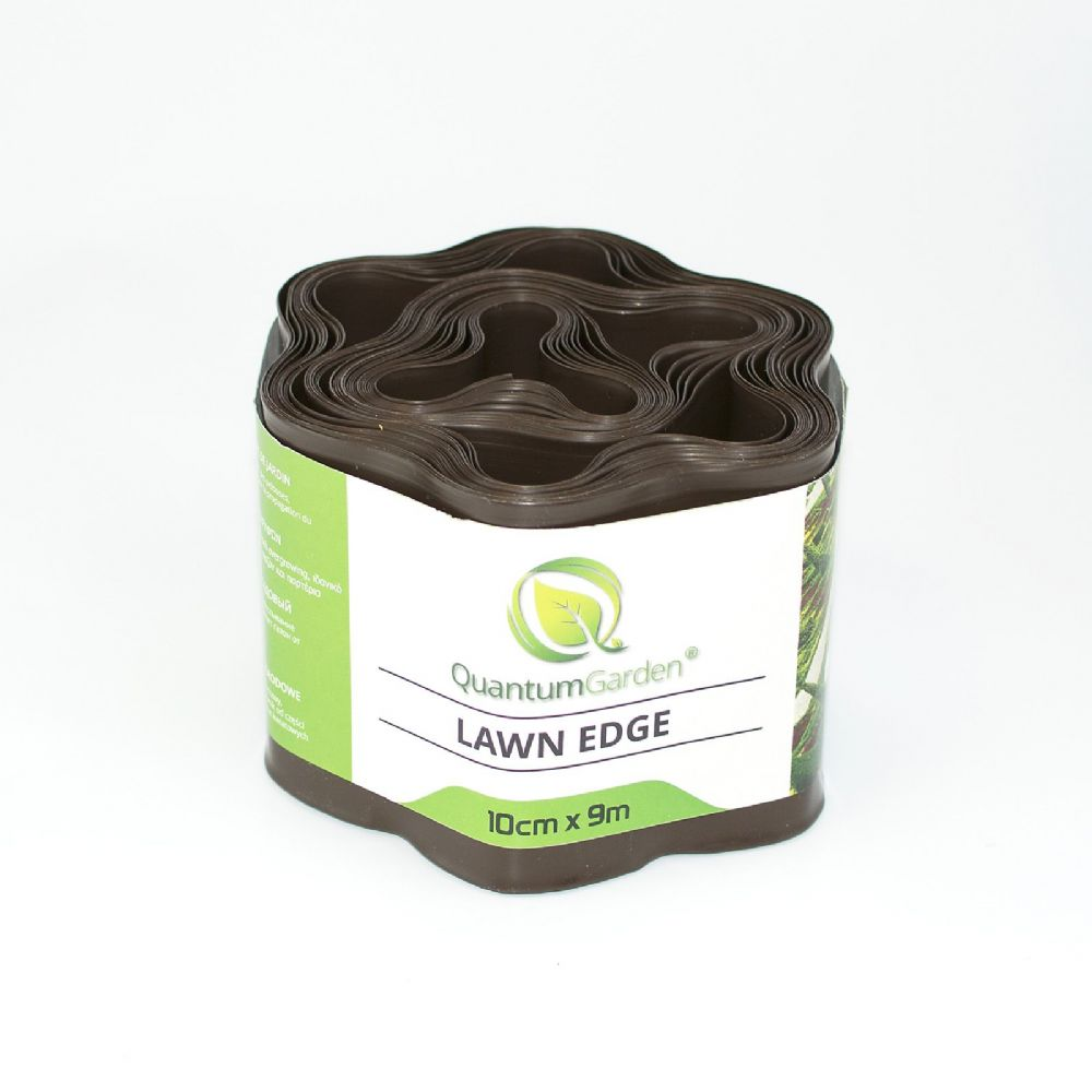 Flexible Plastic Lawn Edge 10cm x 9m in Brown Colour